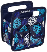 Everything Mary Makers Desktop Tote, Blue Quatrefoil