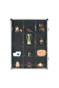 Collectors Aluminium Showcase with 12 compartments