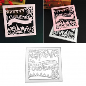 Kicode DIY Steel Cutting Dies Cutter Handmade Stencil Embossing Scrapbooking Album Decorative Party Card Craft Tool