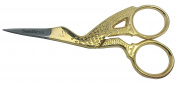 Gold STORK SCISSOR FOR EMBROIDERY, MANICURE, NAIL ART, CRAFT & SEWING 8.9cm inch GS1 SANDBROS