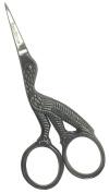 Stork / Crane pattern embroidery scissors 89mm S111 Sandbros