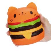 Squishies Slow Rising Jumbo Squeeze Soft Toys,VNEIRW Cat Hamburger Jumbo Scented Stress Relief Toys