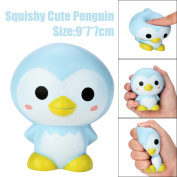 Toamen Newest 9cm Cute Penguin Cartoon Scented Squeeze Toy Squishies Toy Slow Rising Relieves Stress Soft Toy for Children and Adult Toy Gift ADD ADHD