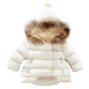 Gemini_mall Cute Baby Girls Boys Kids Parka Down Hooded Jacket Coat Autumn Winter Warm Children Clothes For 0-5 Years old