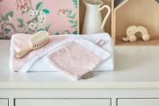 Kraft Kids Face Cloth White Thin Diamante On Dusky Pink
