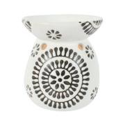 Black & White Round Ceramic Oil Burner