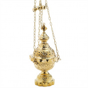 Nklaus Frankincense Smoke Beer Barrel with Chain and Bell Brass Handmade Incense 2790