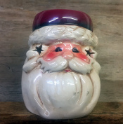 Ceramic Glazed Vintage Father Christmas Oil Burner