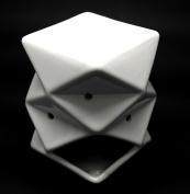 White Funky Abstract Design Ceramic Oil Burner