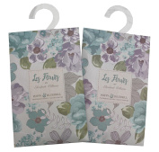 Pair of Mini Wardrobe Fragrance Sachets - Poppy and Bluebell