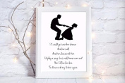 dance with my father again quote a4 glossy print poster UNFRAMED picture dad memory memorial remembrance