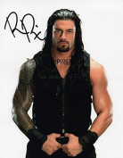 LIMITED EDITION ROMAN REIGNS WRESTLING SIGNED PHOTOGRAPH + CERT PRINTED AUTOGRAPH