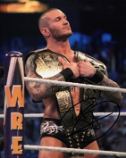 LIMITED EDITION RANDY ORTON WRESTLING SIGNED PHOTOGRAPH + CERT PRINTED AUTOGRAPH