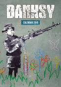 Imagicom imacal216 Wall Calendar of Banksy, Paper, Red, 0.1 X 30.5 X 42.5 Cm