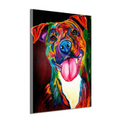 Pu Ran Unframed Multi-colour Dog Painting Wall Art Craft Hanging Pictures Decor - 30*45cm