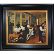 overstockArt Degas a Cotton Office in New Orleans with Vintage Creed Frame