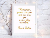 snow white disney quote gift a4 glossy print poster UNFRAMED picture gift wall art