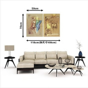 """HY & GG Canvas Print Abstract,Two Panels Canvas Horizontal Print Wall Decor For Home Decoration,Without Inner Frame,20"""" X 28"""""""