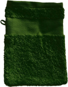 Flannel with your text or name 21 x 16 cm Colour Green