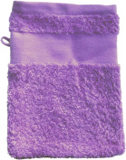 Wash Glove With Your Text or Name 21 x 16 cm/Colour Lilac