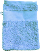 Wash Glove With Your Text or Name 21 x 16 cm/Colour Light Blue