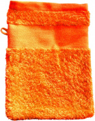 Wash Glove With Your Text or Name 21 x 16 cm/Colour Orange