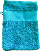 Flannel with your text or name 21 x 16 cm Colour Azure