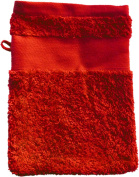 Wash Glove With Your Text or Name 21 x 16 cm/Colour Red