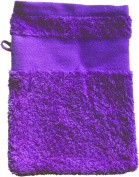 Wash Glove With Your Text or Name 21 x 16 cm/Colour Purple