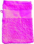 Wash Glove With Your Text or Name 21 x 16 cm/Colour Pink