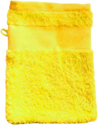 Wash Glove With Your Text or Name 21 x 16 cm/Colour Yellow