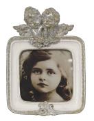 Antique Silver And White Cherub Square Photo Frame 3 X 3