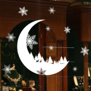 Oyedens Christmas Snow Moon Wall Stickers Wallpaper Baby Kid Bedroom Home Decoration