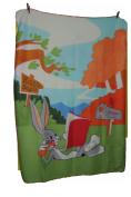 Warm and Lightweight, 110x150 cm Bugs Bunny Fleece Blanket
