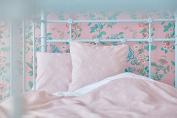 Kraft Kids cushion cover white thin Diamante On Dusky Pink