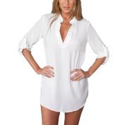 Women Blouse,YanHoo Women Blouse Chiffon Long Sleeve Ladies T Shirt Casual Tops