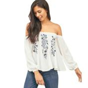 Women Blouse,YanHoo Fashion Women Off Shoulder Floral Print Long Sleeve Blouse Casual Tops T Shirt