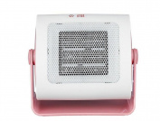 KDLD Mini Heater ® Bedroom Office Portable Heater Flame retardant housing Honeycomb metal grille Energy saving 90 ° Rotation 500W Radiator , white+pink
