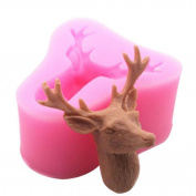 MML 3D Head Mould Christmas Deer Silicone Mould Fondant Cake Decorating Mould Tool