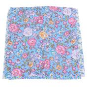 RainBabe Blue Cotton Floral Fabric Bundles Quilting DIY Craft Sewing Patchwork Cloths 25x25cm 7Pcs