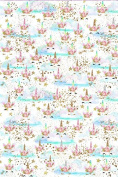 Sleepy Unicorns Printed Canvas fabric sheet x 1 for Hair bow making templates and other crafts