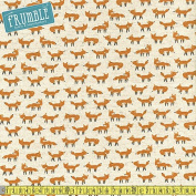 Kokka Cotton/Linen Animal World Foxes Natural Sewing Fabric