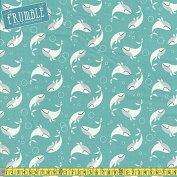 Cotton + Steel Kujira & Star Whale Dance Salt Water Sewing Fabric