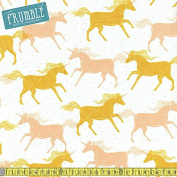 Cotton + Steel Magic Forest Unicorns Yellow Sewing Fabric