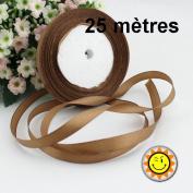 1 Roll Coffee Satin 10 mm per 25 metres