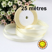 1 Roll Beige Satin 10 mm per 25 metres
