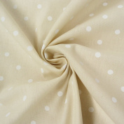 Rasch Bambino Decorative Cotton Fabric Curtain Fabric By The Metre 150 cm with Beige Spots