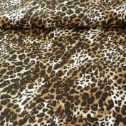 Polyamide Fabric Stretch Leopard Brown 1.4 m Width