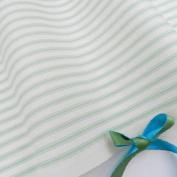 Always Knitting And Sewing Fat Quarters Ivory & Pastel Stripe 100% Cotton Poplin Fabrics 46cm X 60cm ,2.00, Green