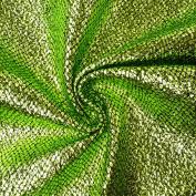 Snake Skin Effect Fabric Fancy Dress Fabric Apple Green Metallic Green Black 1.4 m width